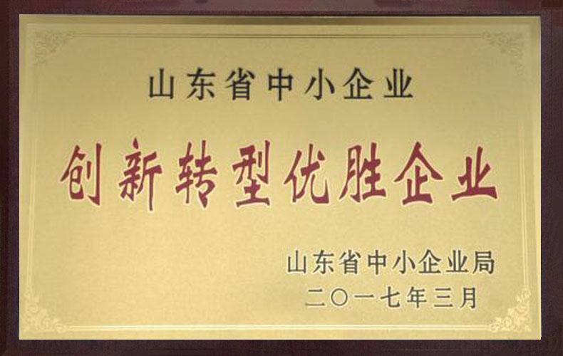 山东省中小企业创新转型优胜企业